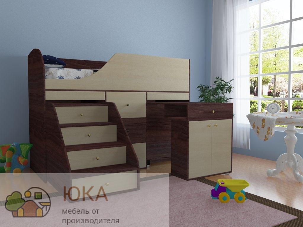 Кровать чердак Чижик 2 Большой